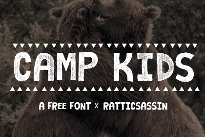 Camp Kids Free Font - Free Design Resources