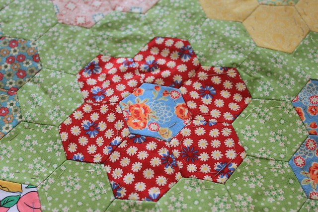 Hexagon quilt UFO  from another quilter