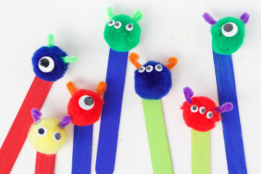 Monster Bookmarks - One Little Project