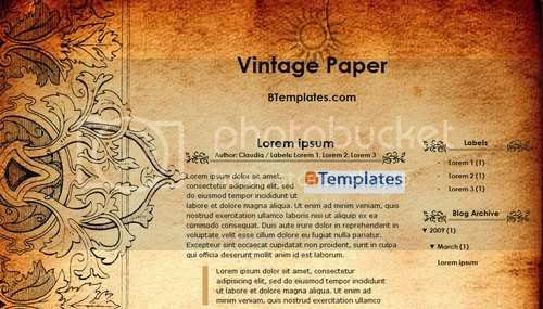 Free Blogger Template For You And For Me