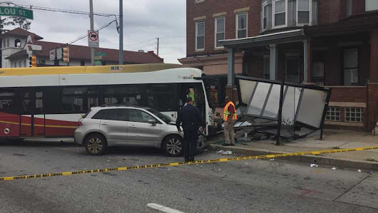 12 taken to hospital after car, MTA bus crash in northwest Baltimore, officials say