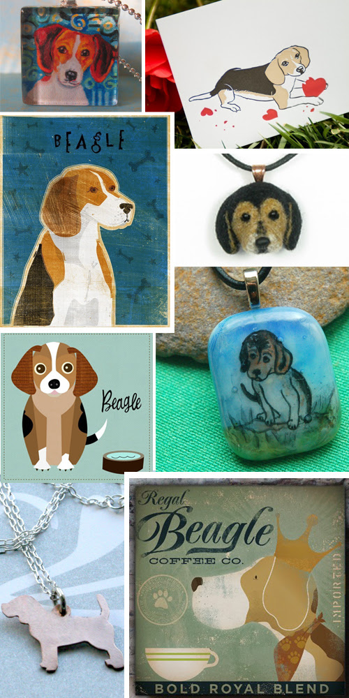 handmade beagle finds from etsy