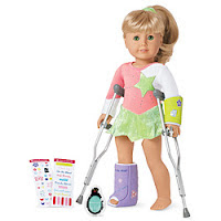 doll on crutches