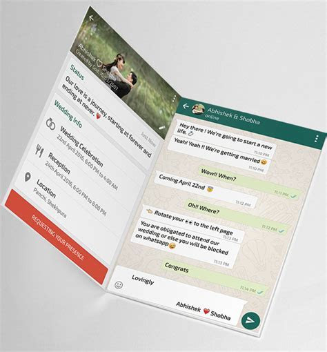 Whatsapp Themed Wedding Invitation Card ? SeeMyMarriage