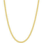 Tiara Sterling Silver Curb Chain Necklace - Yellow