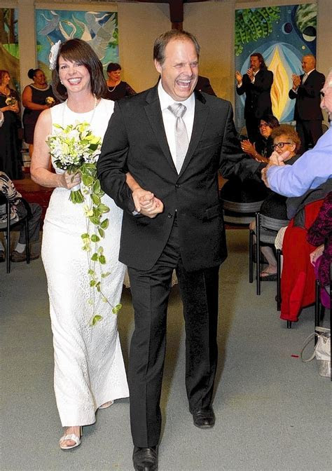 Bay Theatre Company founder exchanges wedding vows after