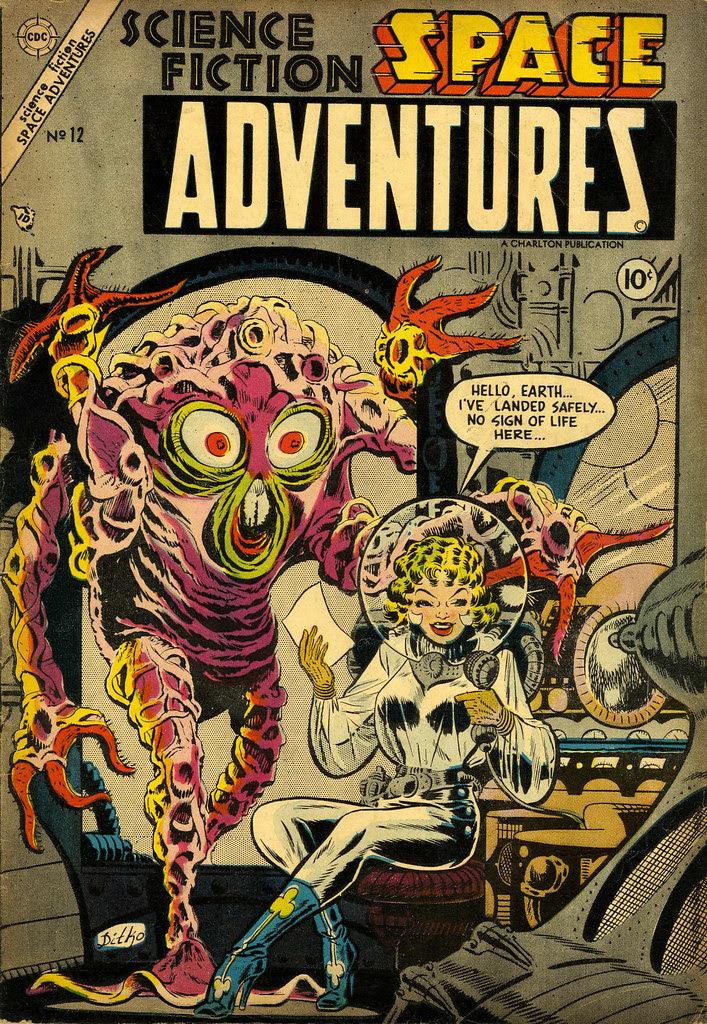 Space Adventures #12 (Steve Ditko Art) Charlton, 1954