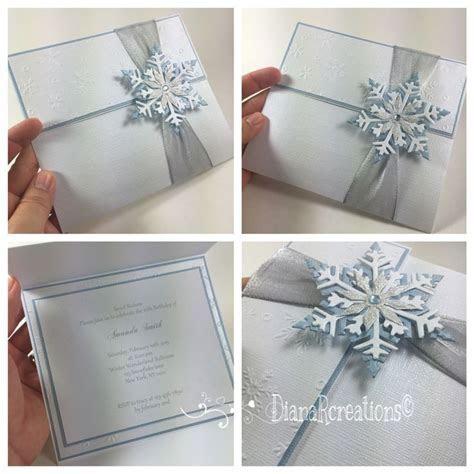 Cute winter wonderland invitations! #dianarcreations #