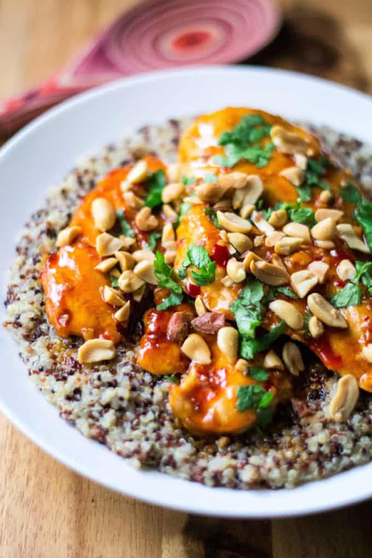 Spicy Thai Chicken with Coconut Lime Quinoa | A Wicked Whisk