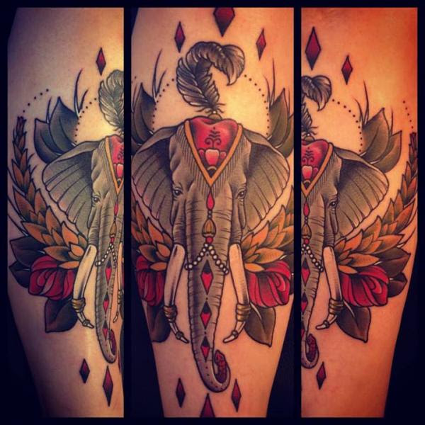 Pictures Of Old School Elephant Tattoo Wwwkidskunstinfo