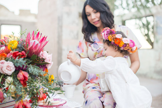 Mommy And Me Tea Party Wedding Party Ideas 100 Layer Cake