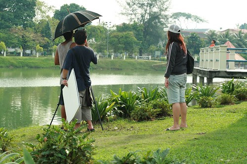 Setting up a scene for Ming Wei