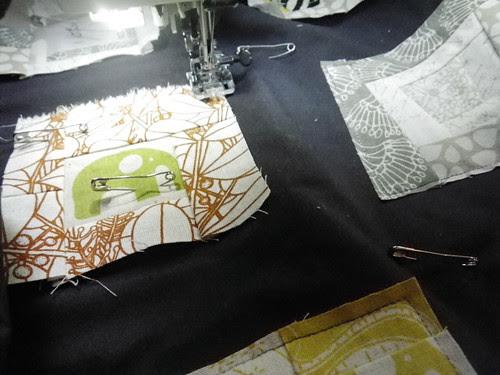 Trimmings quilt in progress
