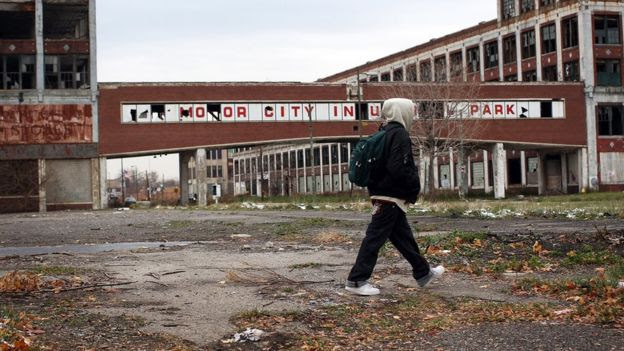 Planta abandonada en Detroit