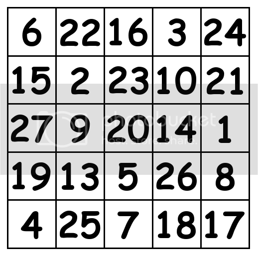 5 by 5 grid Solution 1