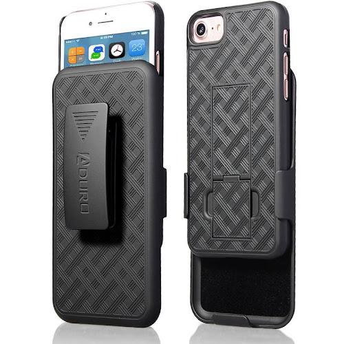 Aduro Holster Case/Aduro Combo Shell & Holster Case for iPhone 8/iPhone 7, Black