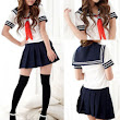 Cosplay Japanese School Girl Students Sailor Uniform Sexy Anime Costume Fashion WIS