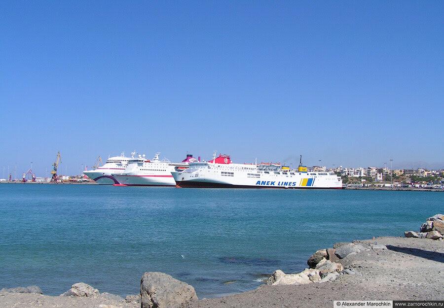 Современный порт Ираклиона | The modern port of Heraklion