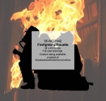 Firefighters Silhouette Yard Art Woodworking Pattern - fee plans from WoodworkersWorkshop® Online Store - firefighting equipment,firefighters,yard art,painting wood crafts,scrollsawing patterns,drawings,plywood,plywoodworking plans,woodworkers projects,workshop blueprints