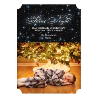 Elegant Silent Night Christmas Card