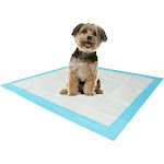 """Stella Puppy Training Pads & Floor Protectors, 28"""" x 34"""" White/Blue - 40 Pack"""