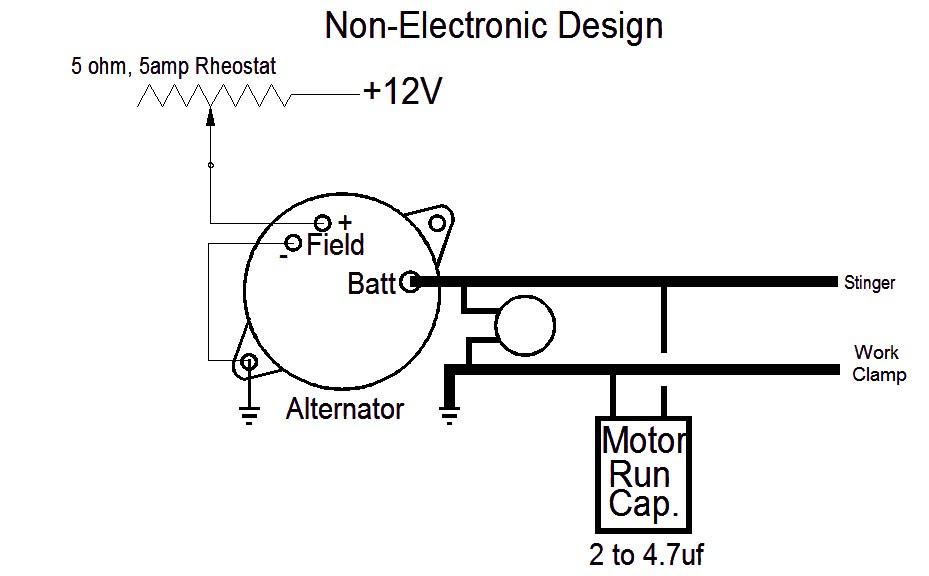 Non Electronic For Alternator Based Welders