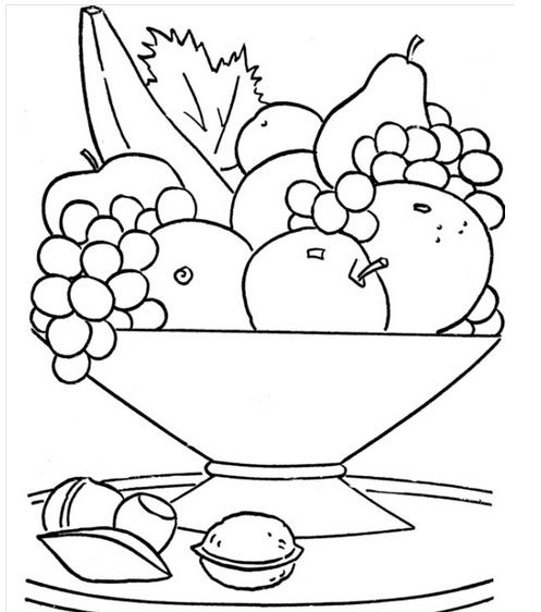 Best Meyve Tabağı Boyama Sayfası Image Collection