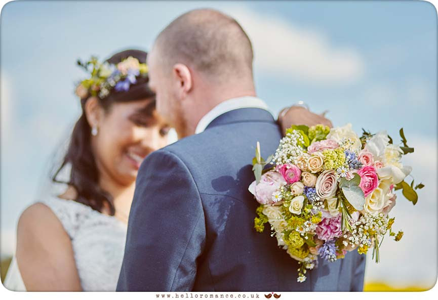 Springtime field photos at wedding of Alisha and Adam - www.helloromance.co.uk