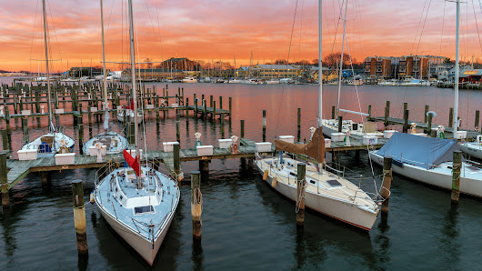 Marina At Sunset, Annapolis, Maryland | In The Viewfinder
