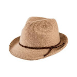 Women's San Diego Hat Company Knit Fedora with Faux Suede Band CTH8071, Adult, Size: One Size (21), Camel