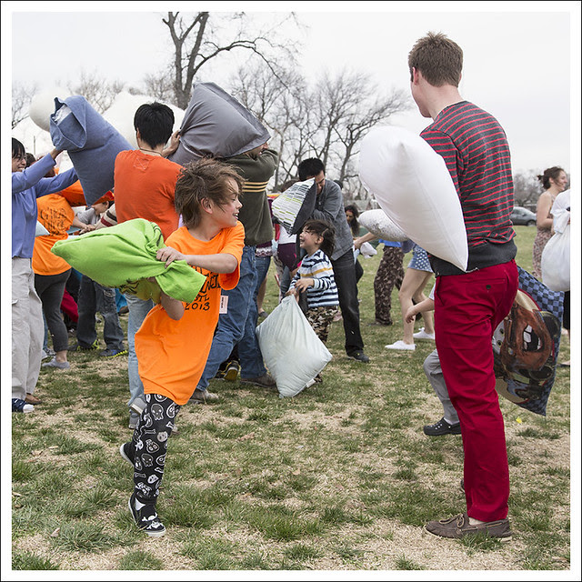 Pillow Fight In Forest Parl 2013-04-06 15