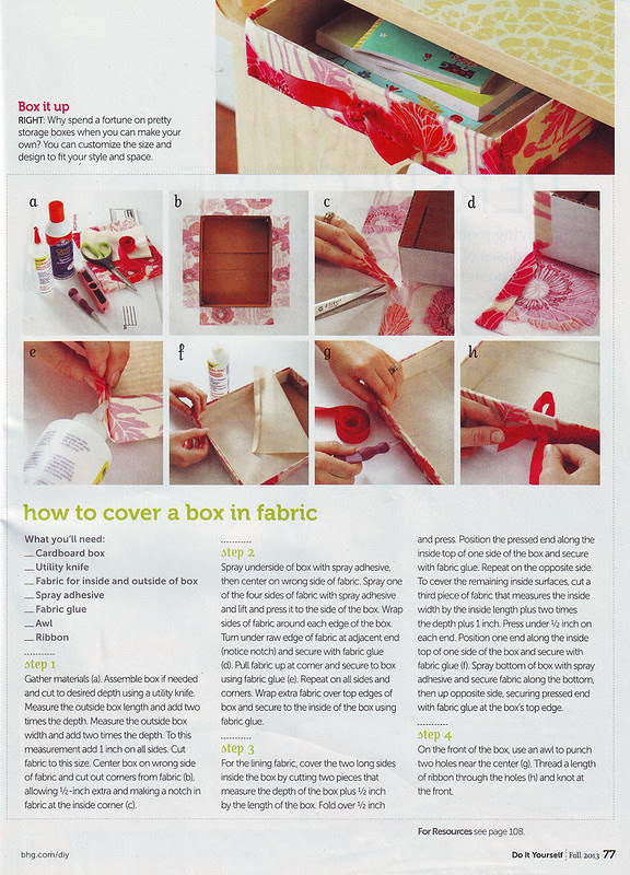 Do It Yourself magazine feature