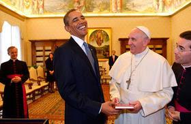 barack obama y el papa francisco
