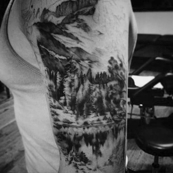 100 Nature Tattoos For Men Deep Great Outdoor Designs