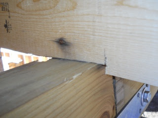 Porch Roof Rafters Seat Cut