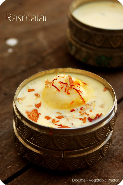 Rasmalai with a hint of Mango