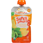 Happy Tot Organic Stage 4 Super Smart Organic Toddler Food, Bananas/Mangos/Spinach Plus Coconut, 4 Ounce, 16 Count