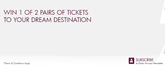 Subscribe to the Qatar Airways Newsletter and Win