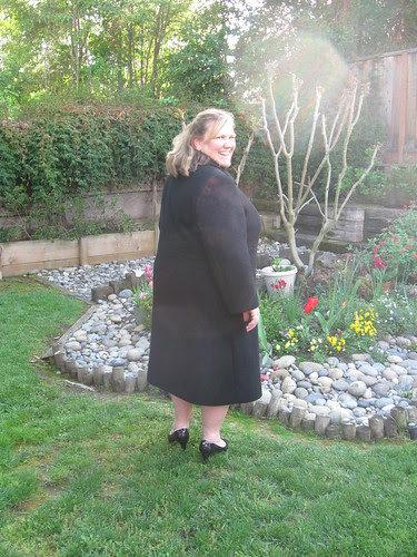 Wool coat side back -