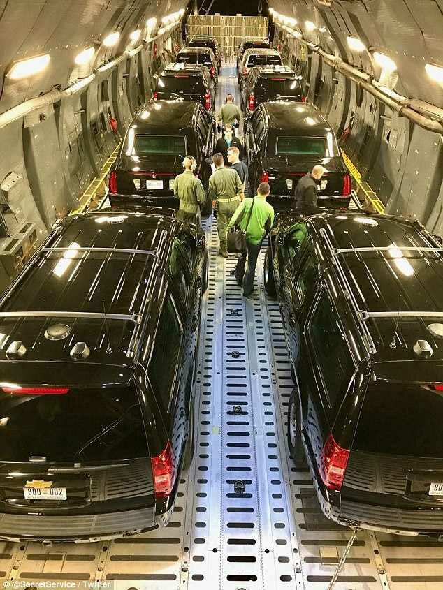 Secret Service Shares Rare Images How They Transport The President's Motorcade