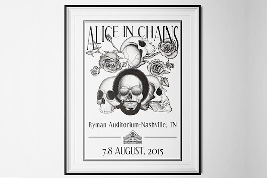 "Beatrizxe — Poster ""Alice in Chains"" with traditional..."