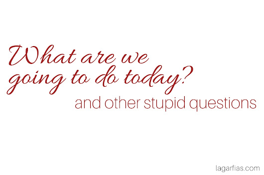 What are We Doing Today (and other stupid questions)