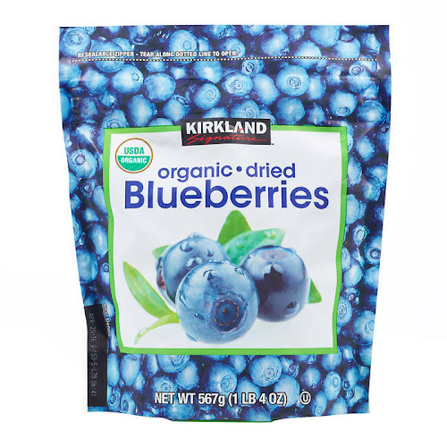 Kirkland Organic Dried Blueberries - 20 oz pouch