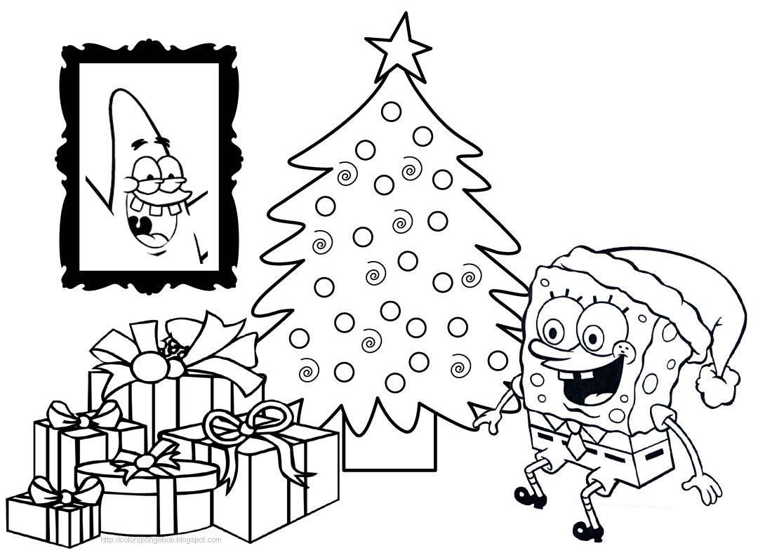 Spongebob And Patrick Christmas Coloring Pages at ...