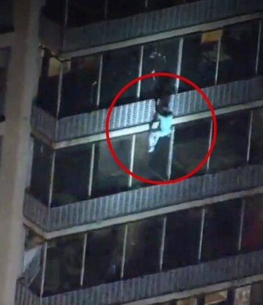 Heroic! Man Climbs 19-storey Building To Save His Mother From Fire (Photos)