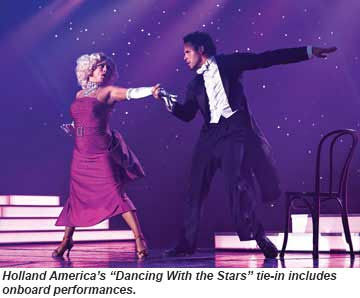 Holland America features Dancing With the Stars performances