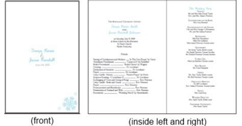 Programs. Printable Blue Snowflake Wedding Invitations