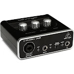 Behringer UM2 Audiophile USB Audio Interface with Mic Preamplifier, Black