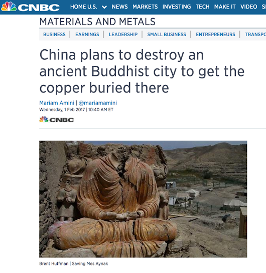 Saving Mes Aynak featured on CNBC!