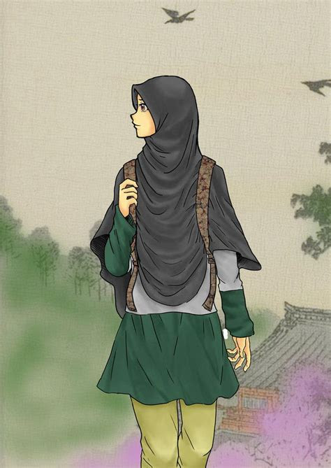 hijab cartoon ideas  pinterest muslimah